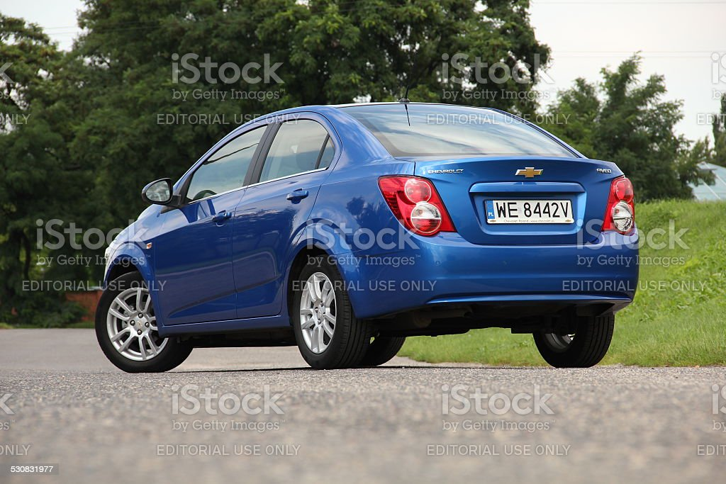 Chevrolet Aveo/Sonic on the street stock photo