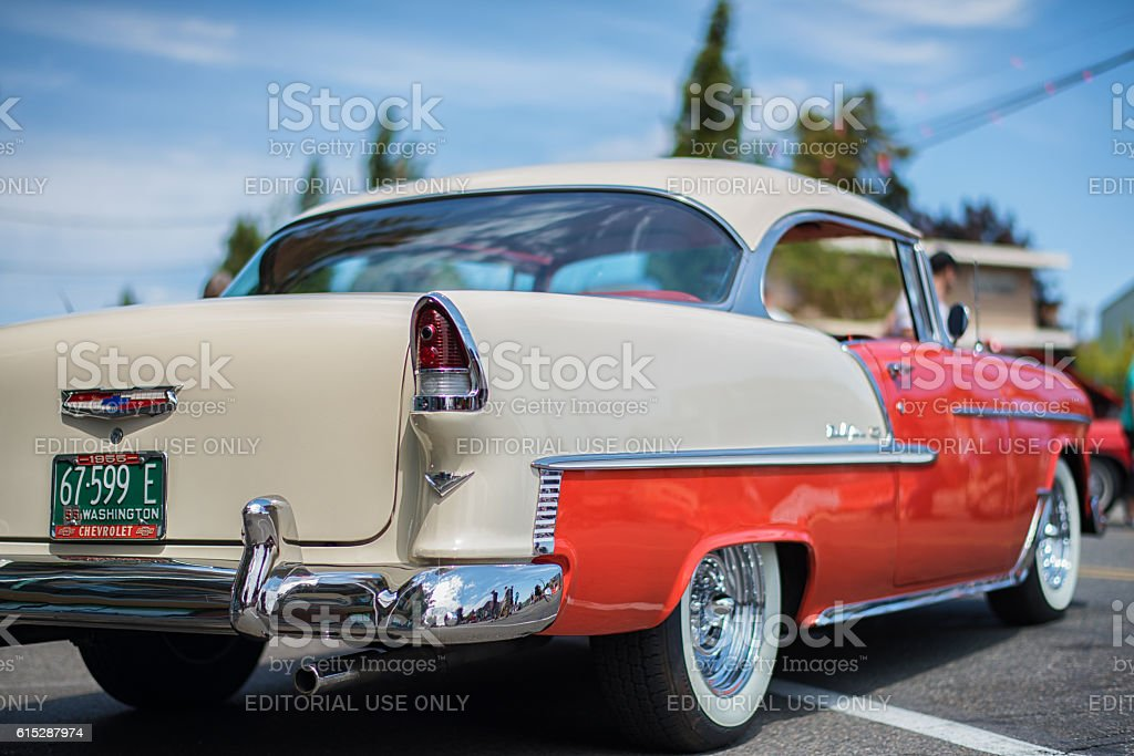 Chevrolet Bel Air 1955 at Greenwood Car Show stock photo