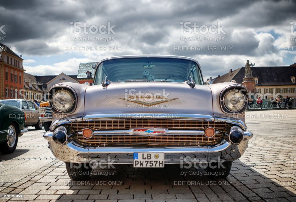 Chevrolet Bel Air at the eMotionen event on April 23, 2017 in Ludwigsburg, Germany stock photo