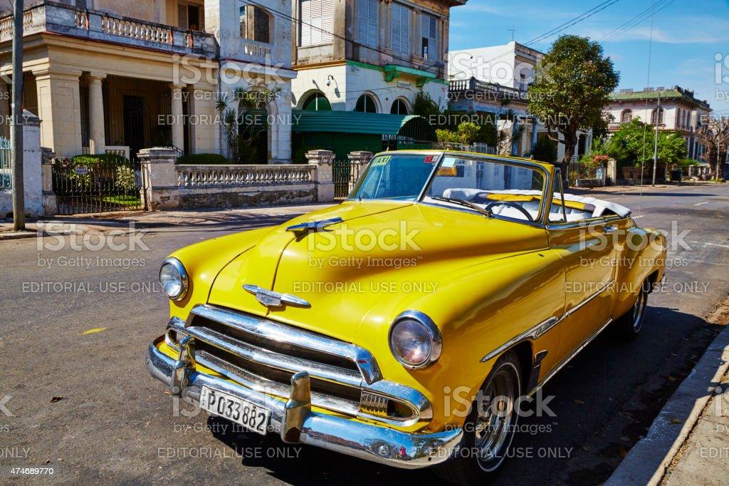 Chevrolet Bel Air Circa 1956 on Havana Street stock photo