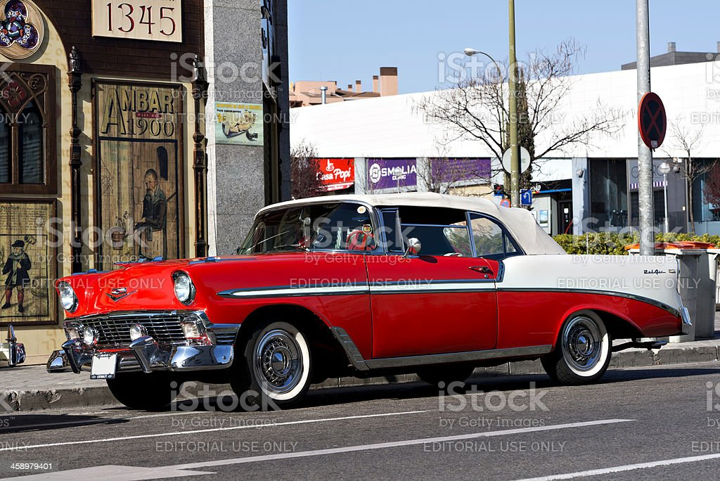 Chevrolet Bel Air 1955 royalty-free stock photo