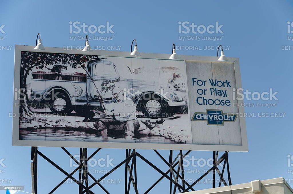 Chevrolet Billboard - 1950's Style stock photo