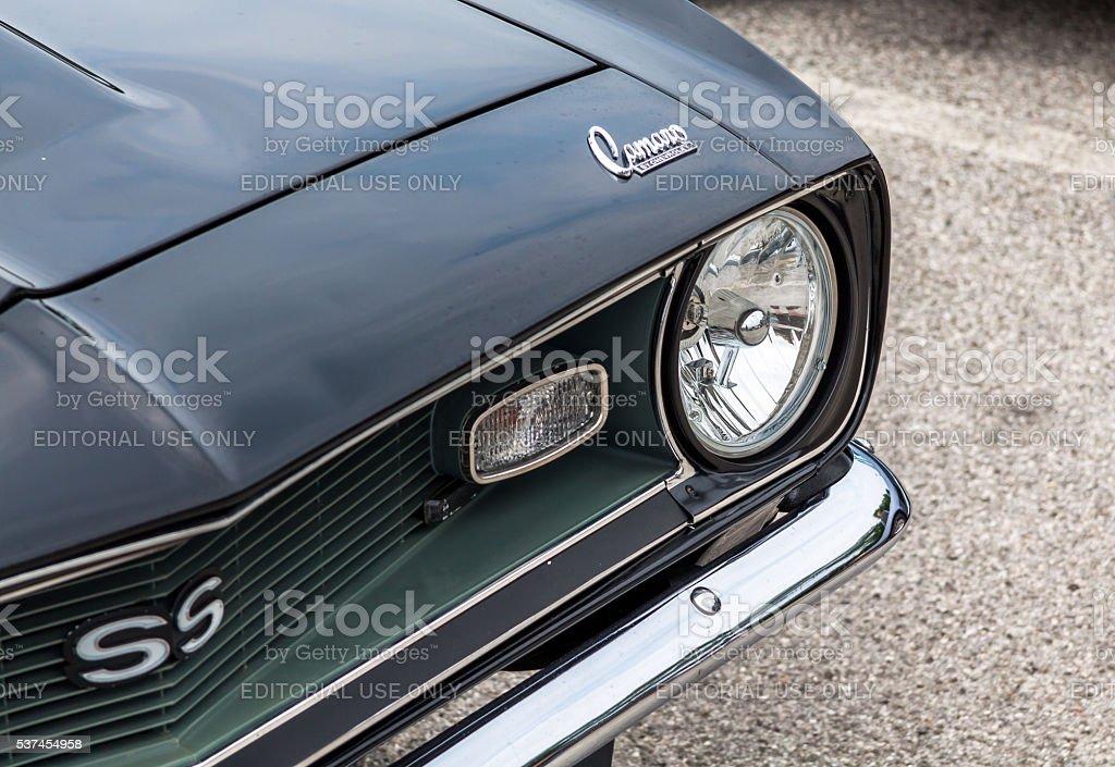 Chevrolet Camaro SS detail stock photo