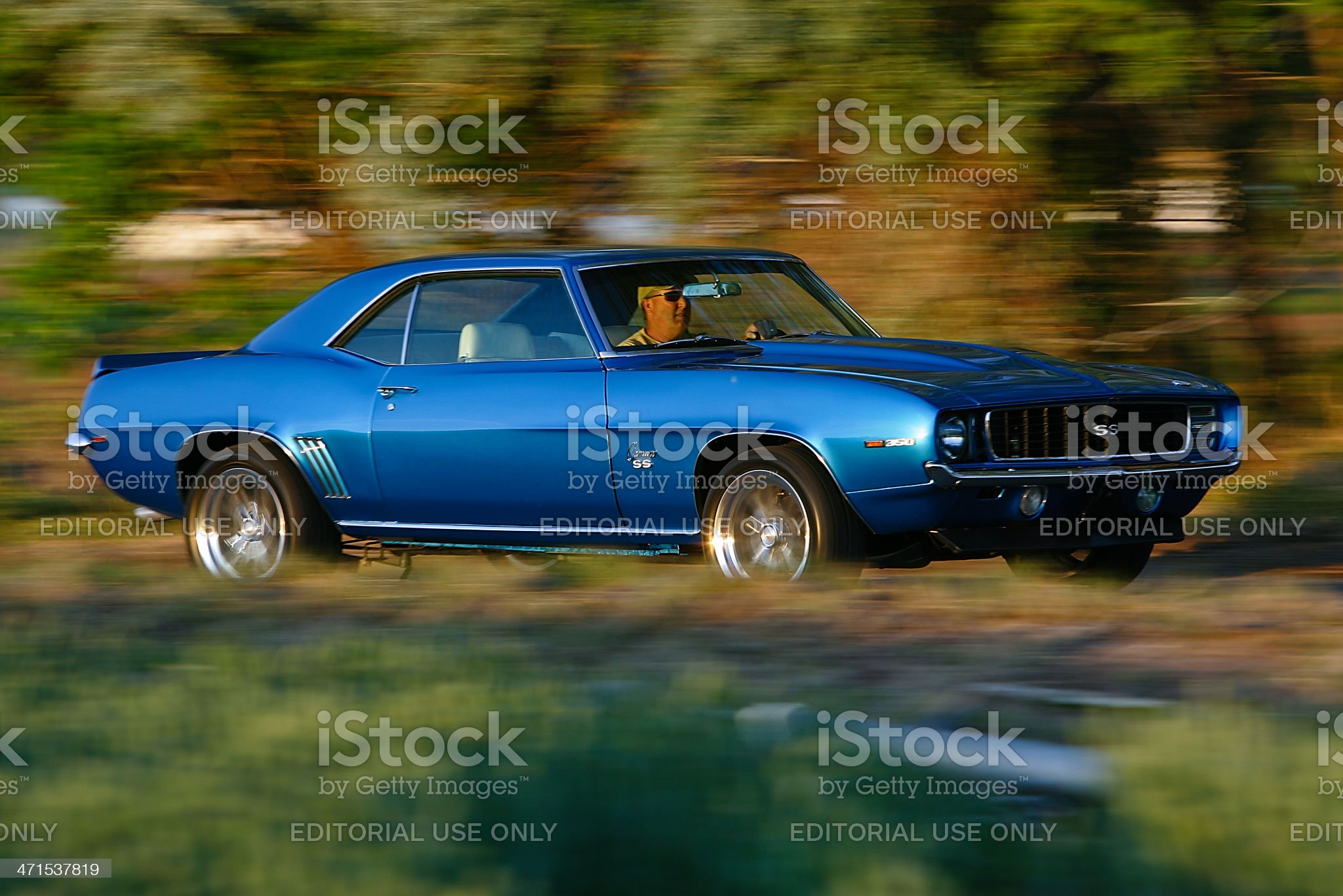 1967 Chevrolet Camaro SS on the Move royalty-free stock photo