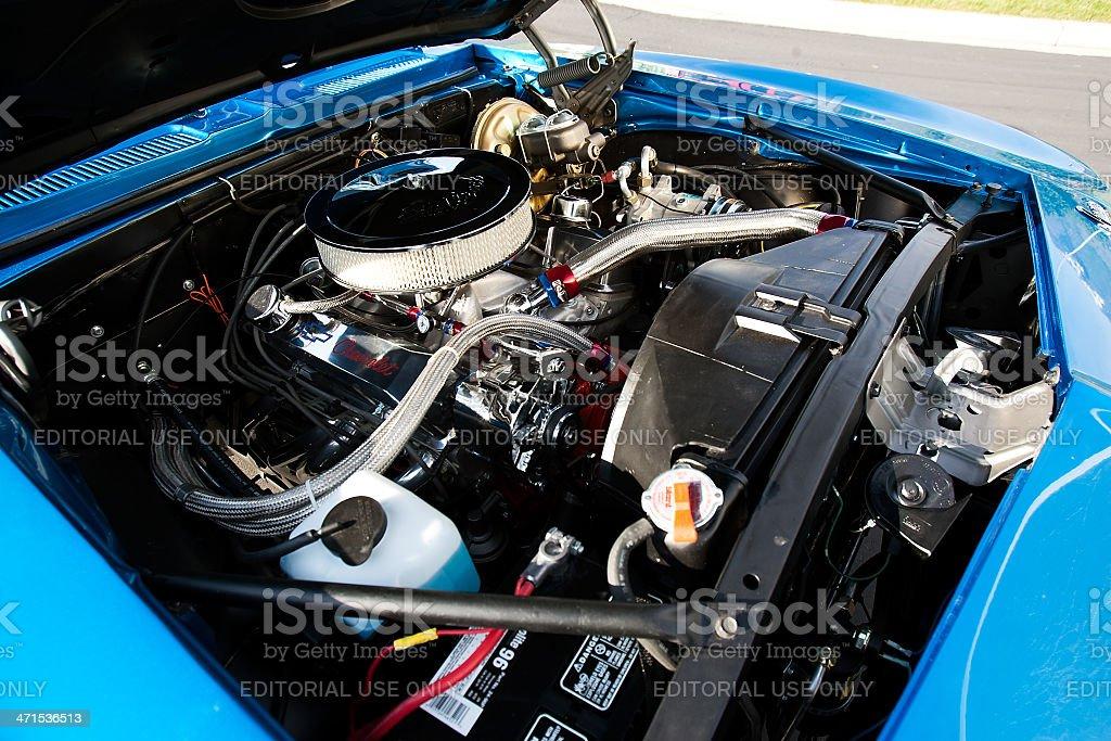1967 Chevrolet Camaro Super Sport Restored Engine royalty-free stock photo