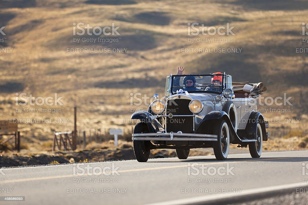 Chevrolet Capitol oldtimer in Patagonia Argentina royalty-free stock photo