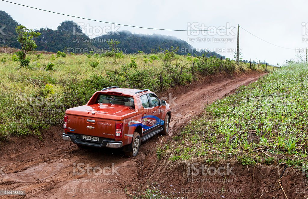 Chevrolet Colorado pick-up car stock photo