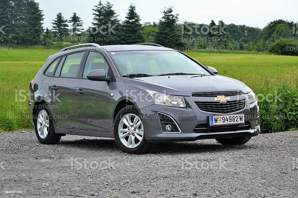 Chevrolet Cruze SW on the parking stock photo