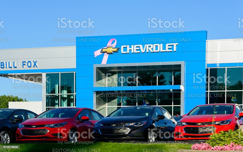 Chevrolet Dealership in Rochester Hills, Michigan stock photo