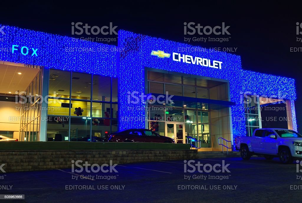 Chevrolet Dealership in Rochester, Michigan stock photo