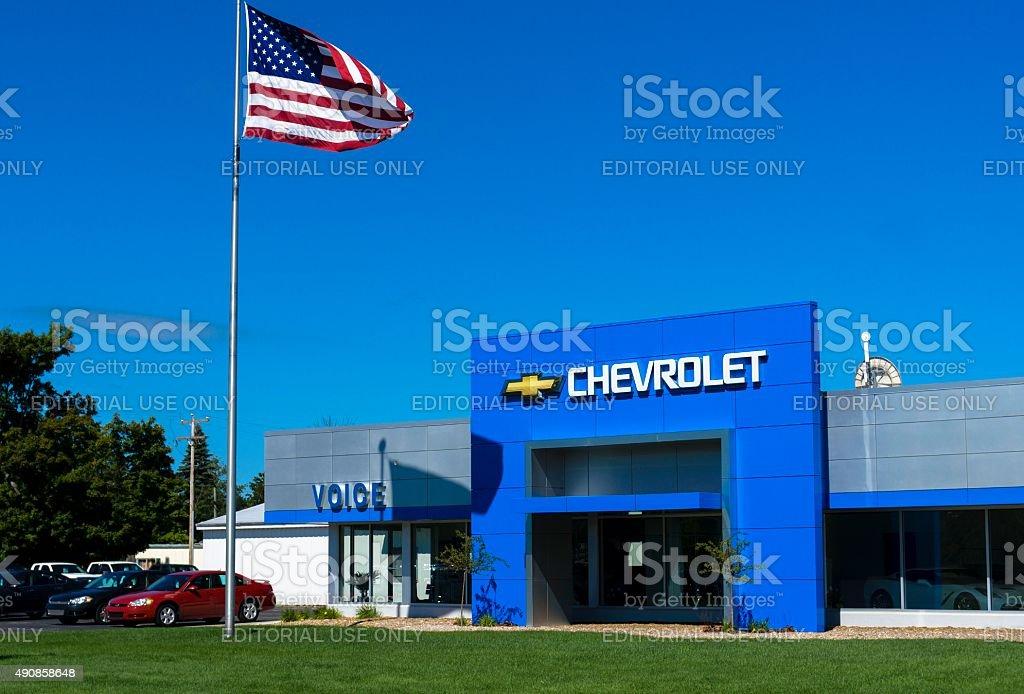 Chevrolet Dealership stock photo