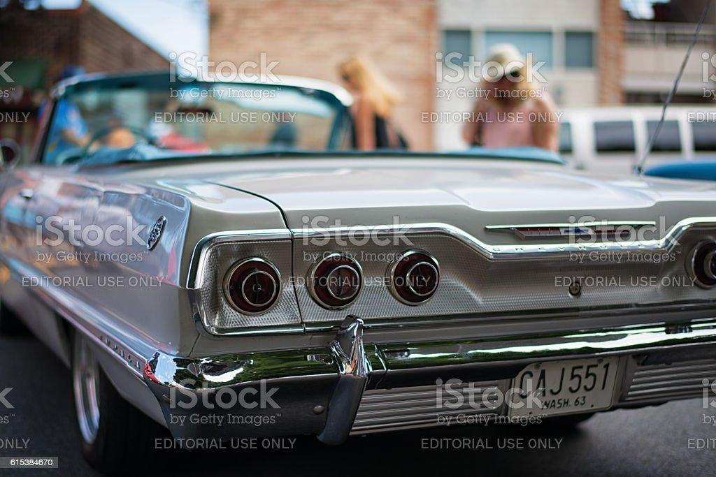 Chevrolet Impala 1963 Convertible at the Greenwood Car Show stock photo