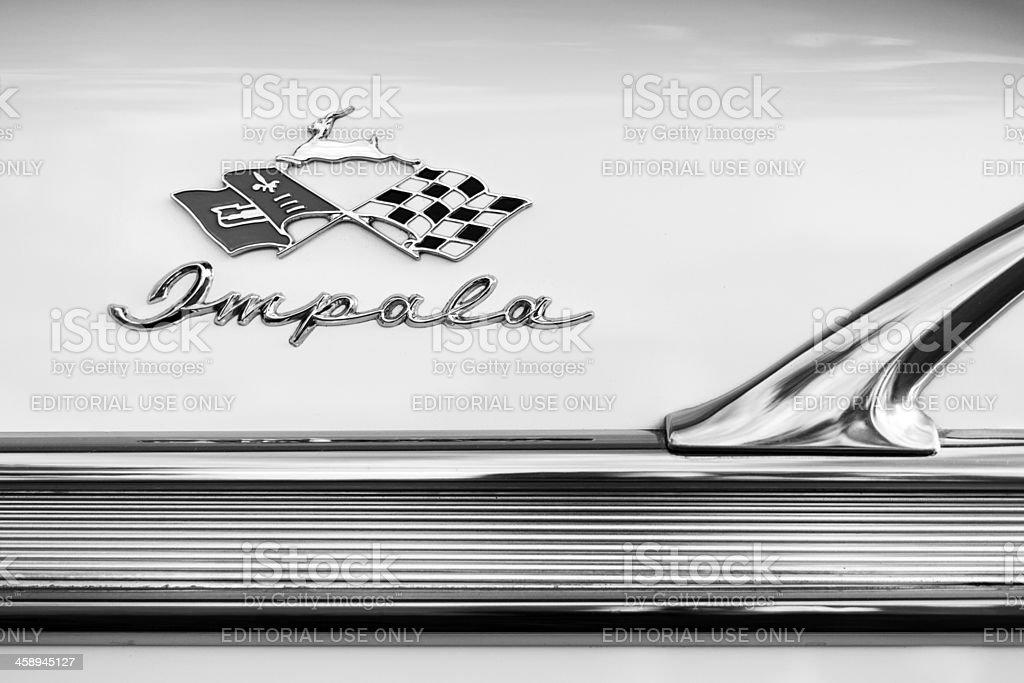 Chevrolet Impala Emblem stock photo
