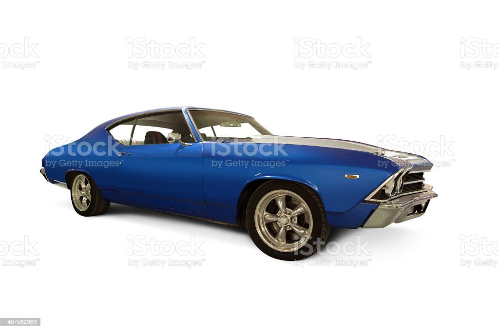 A 1969 Chevrolet  isolated on white stock photo