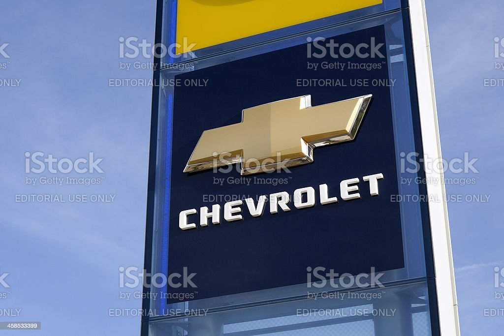 Chevrolet logo royalty-free stock photo