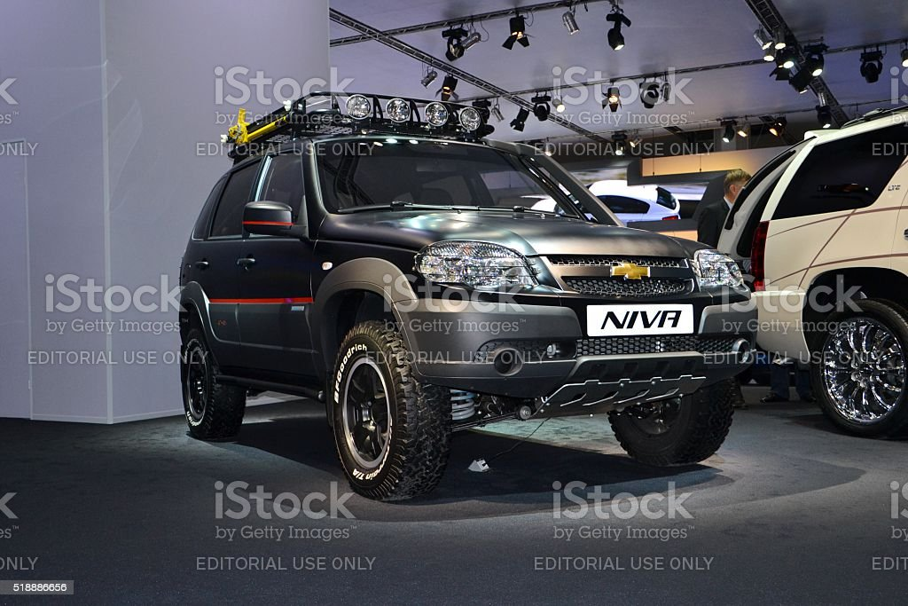 Chevrolet Niva - SUV from Russia stock photo