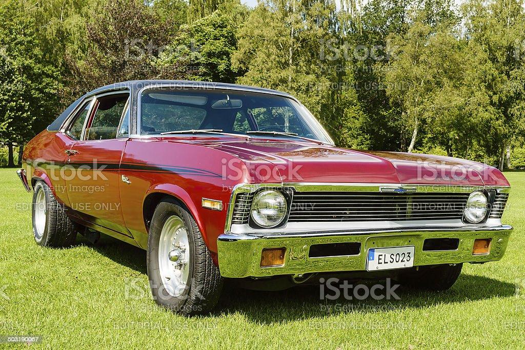 Chevrolet Nova 1972 stock photo