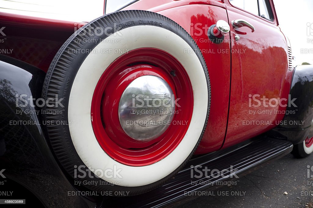 1949 Chevrolet Pickup Truck Spare Tire stock photo
