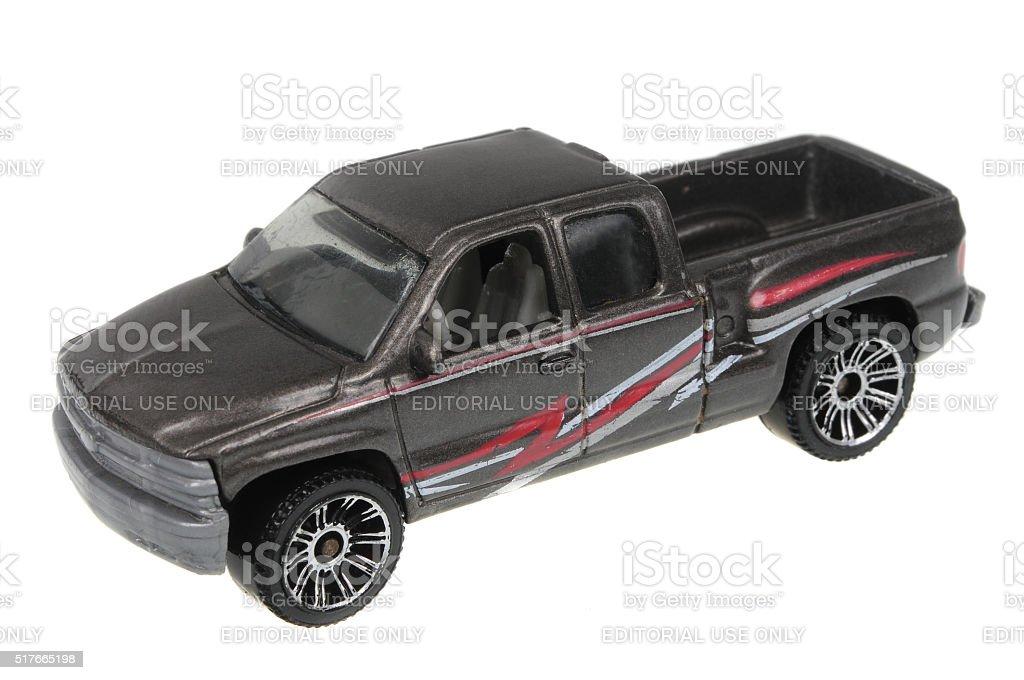 1999 Chevrolet Silverado Matchbox Diecast Toy Car stock photo