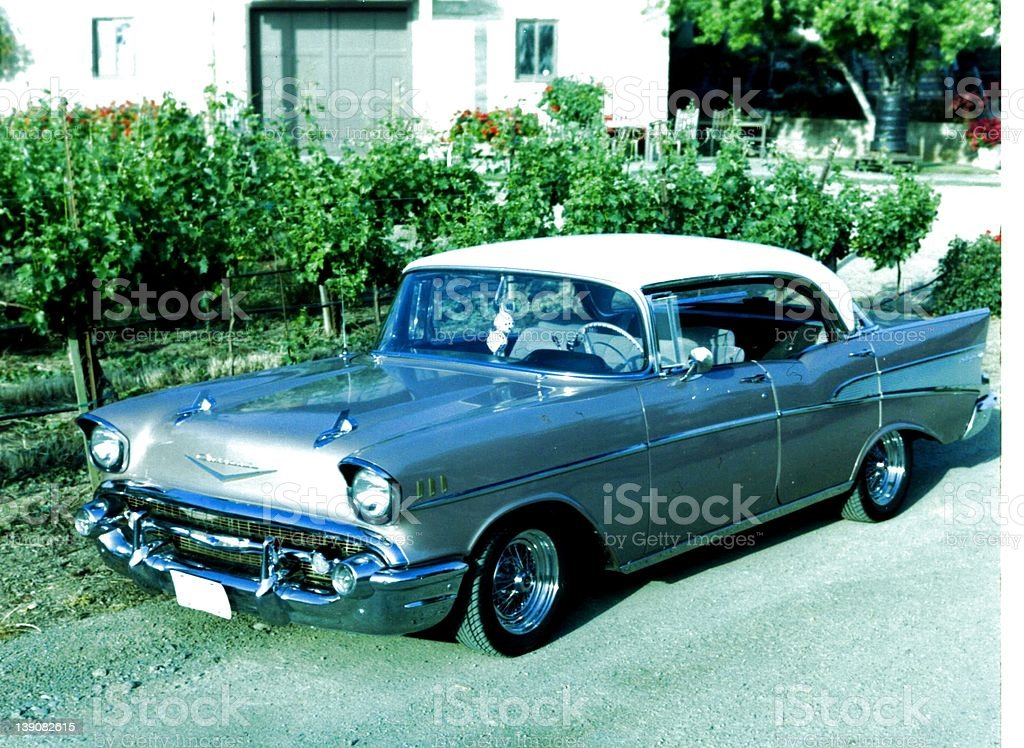 Chevrolet Sport Sedan - 1957 royalty-free stock photo