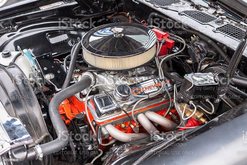 Chevrolet V8 engine stock photo