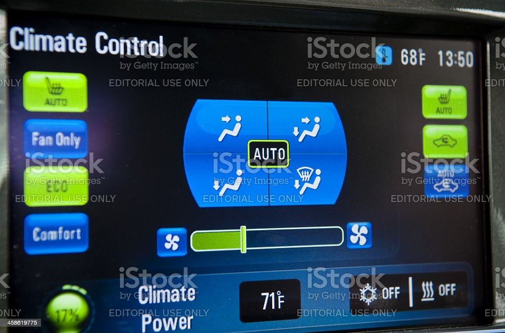 Chevrolet Volt control panel stock photo