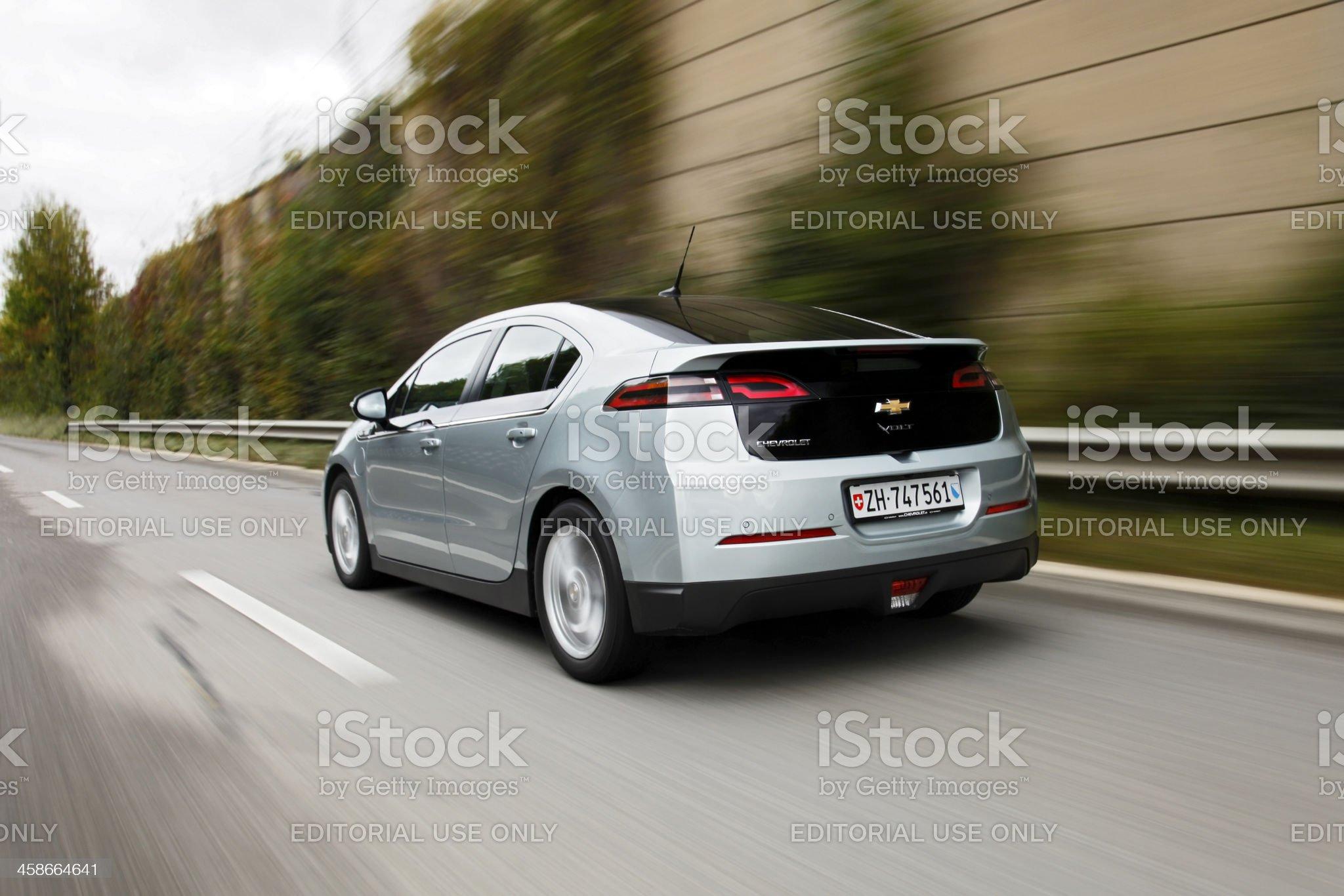 Chevrolet Volt driving royalty-free stock photo