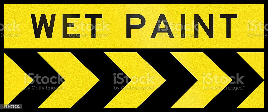 Chevron Alignment To The Right - Wet Paint In Australia stock photo