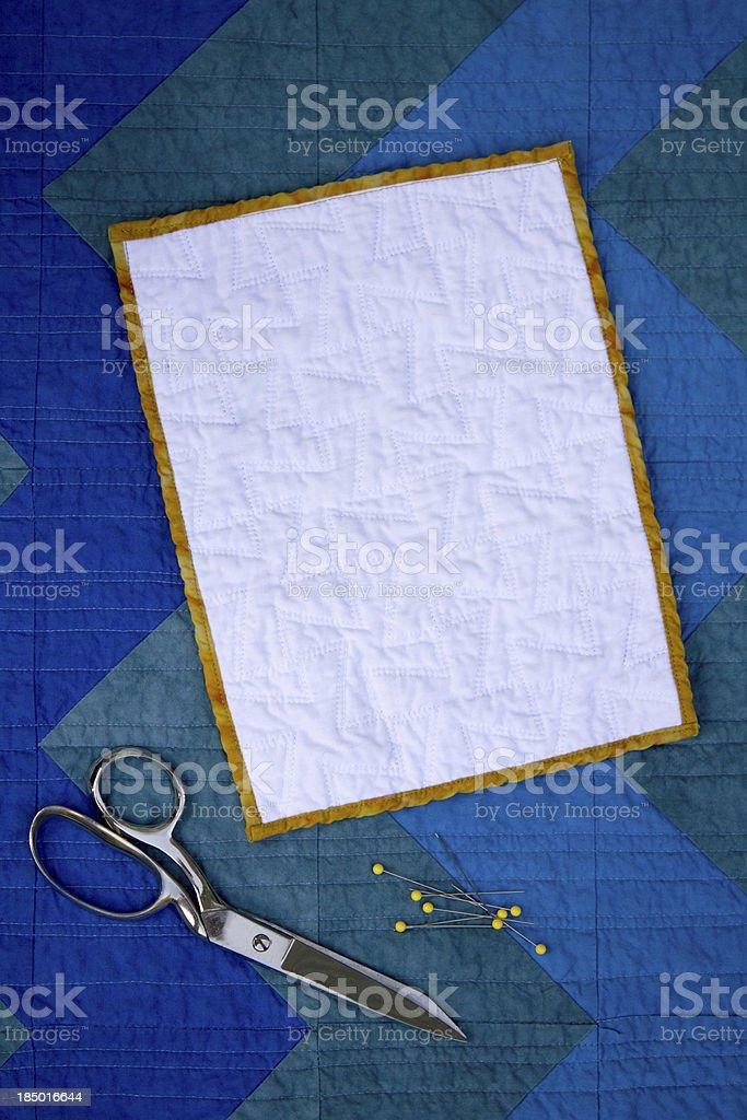 Chevron and Mini Quilt stock photo