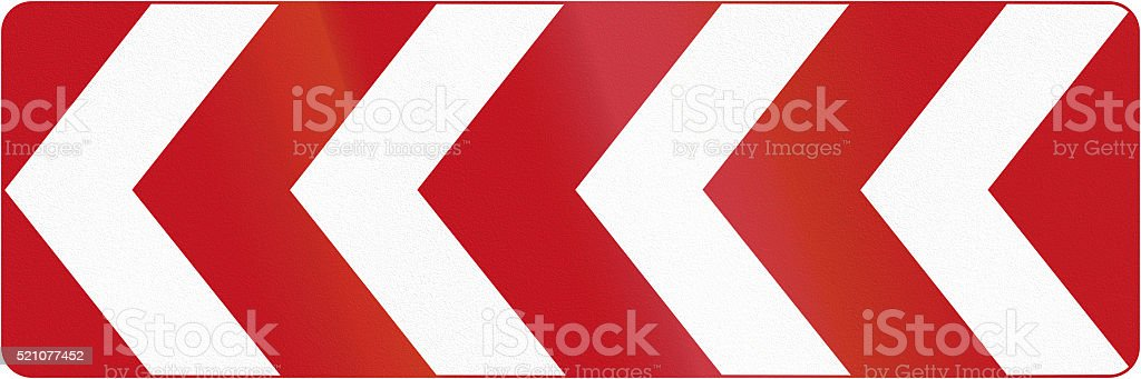 Chevron Array To The Left in Canada stock photo