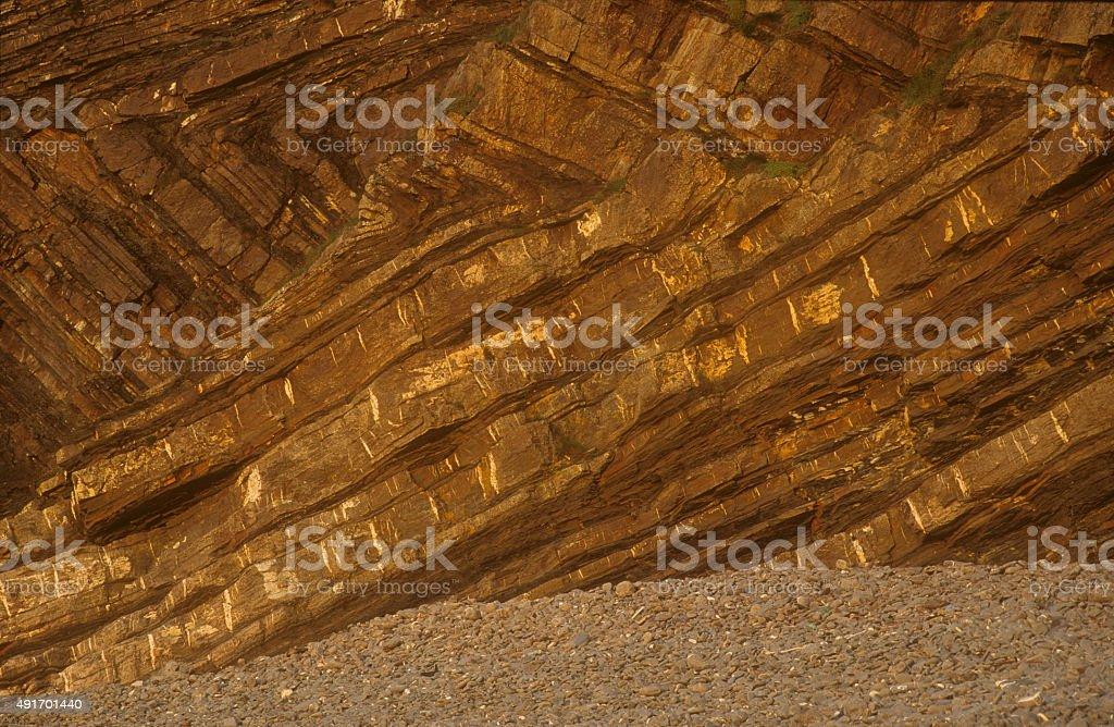 Chevron Folding Millook Haven stock photo