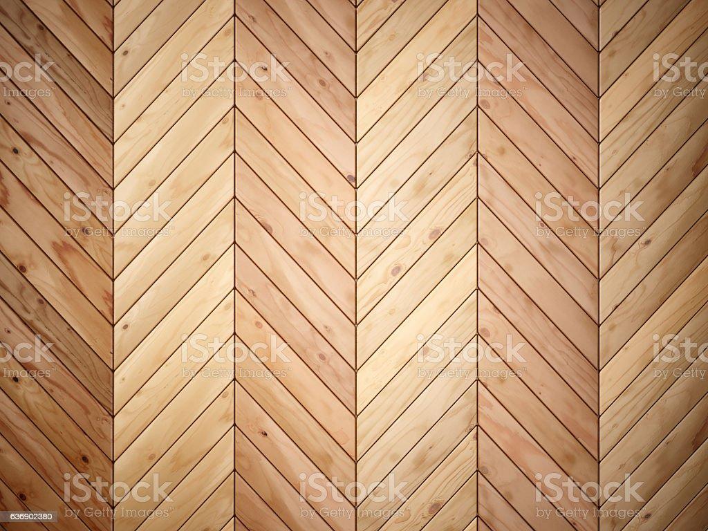 chevron wooden floor tiles stock photo