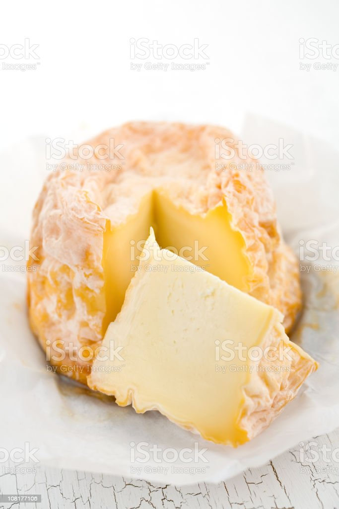 Chevrot Cheese Wedge royalty-free stock photo