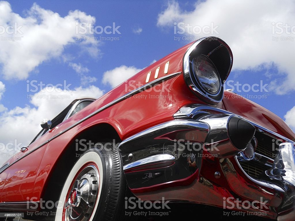 Chevy 1957 Bel Air Red stock photo