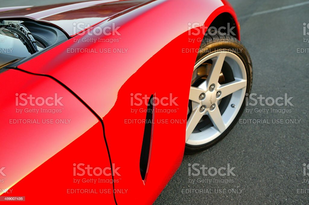 Chevy Corvette, front fender and door royalty-free stock photo