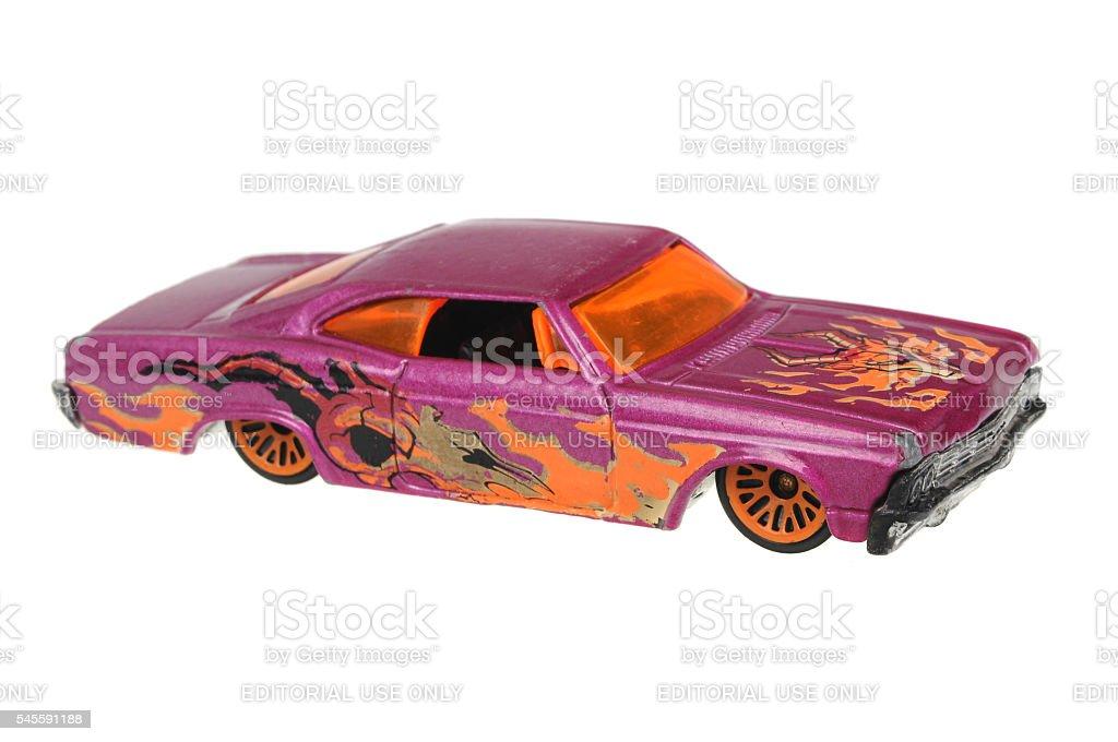 1965 Chevy Impala Hot Wheels 1996 Diecast Toy Car stock photo