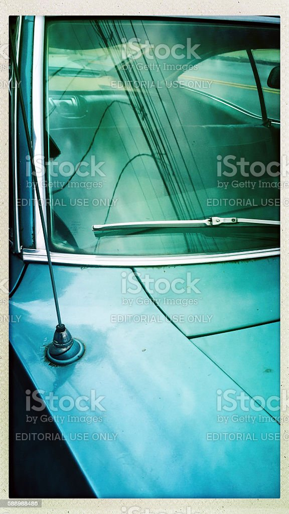 Chevy Impala Parked Antique Car stock photo
