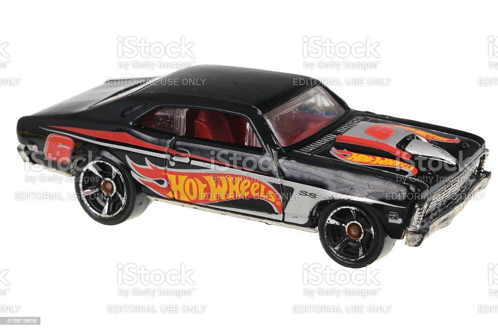 1968 Chevy Nova Hot Wheels Diecast Toy Car stock photo