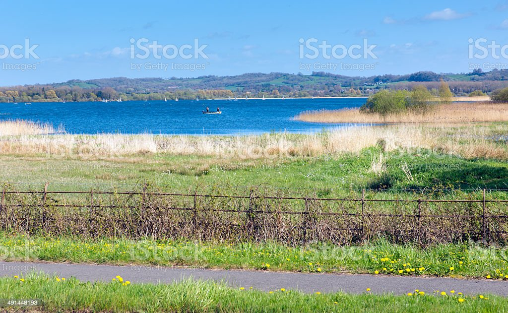 Chew Valley Lake and reservoir Somerset England stock photo