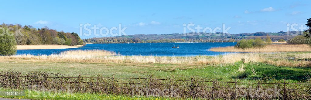 Chew Valley Lake and reservoir Somerset England uk panorama stock photo