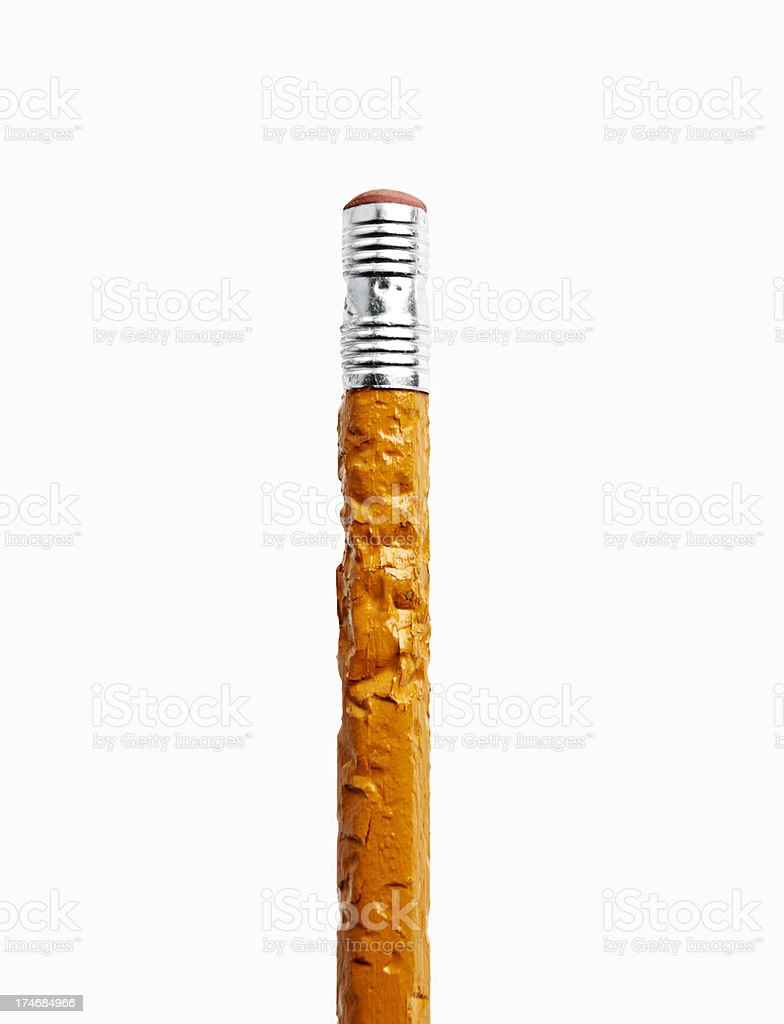 Chewed Pencil stock photo