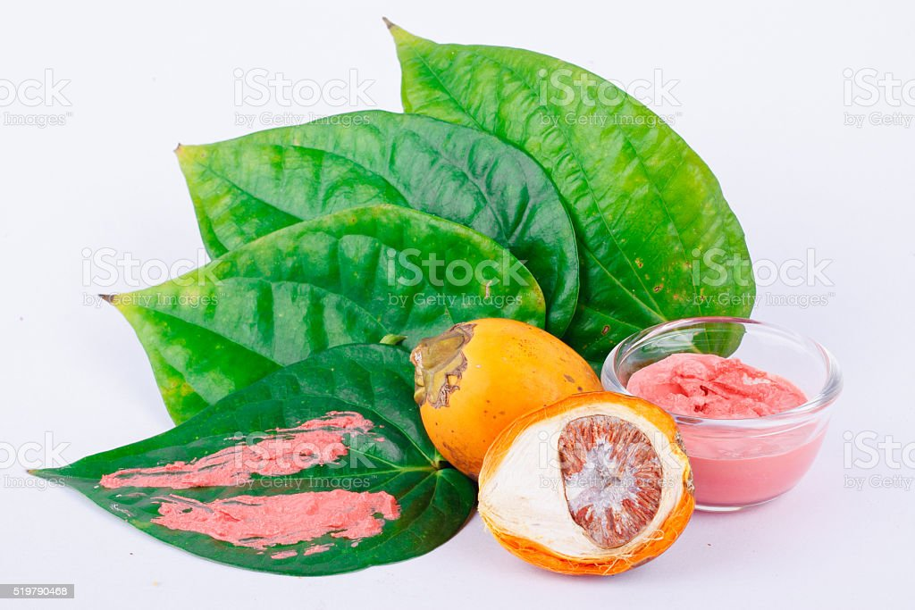 Chewing betel nut is very popular in the ASEAN stock photo