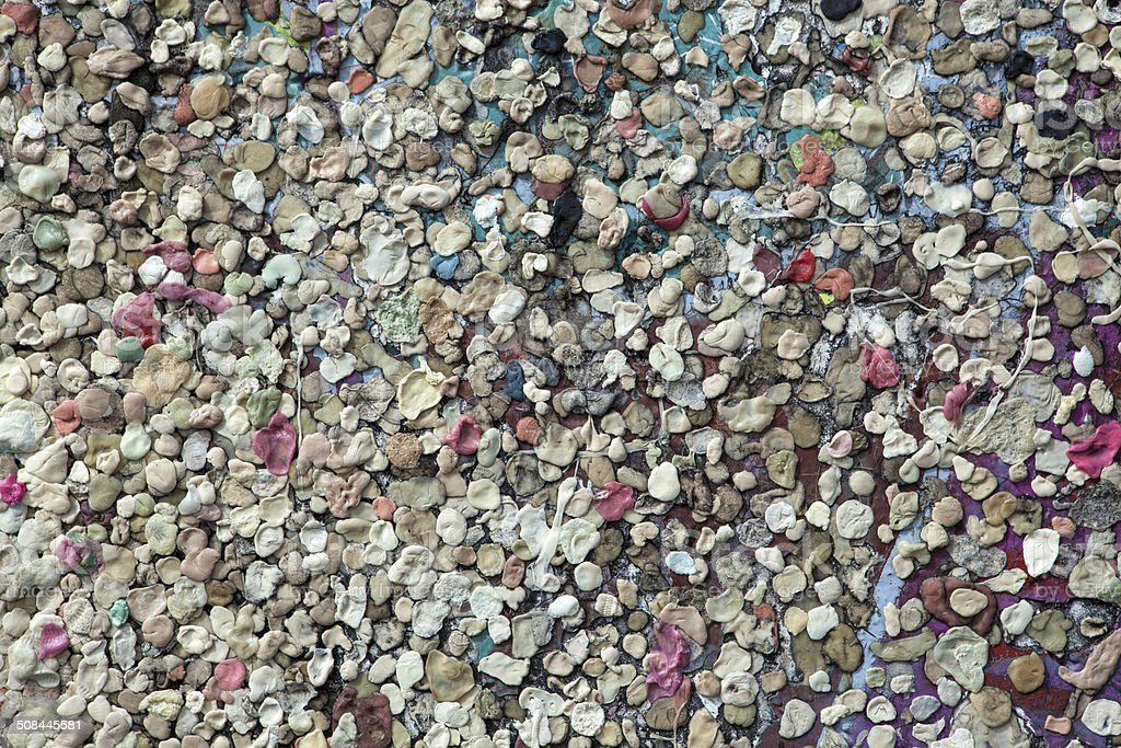 Chewing gum on wall of Berlin stock photo