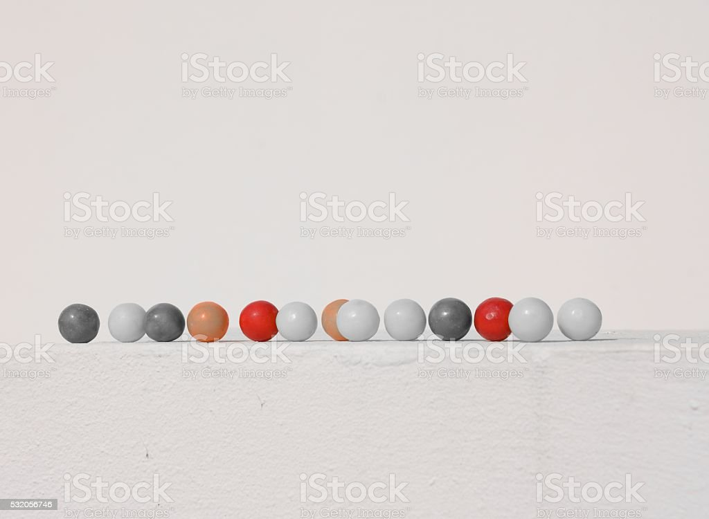 Chewing gum row stock photo