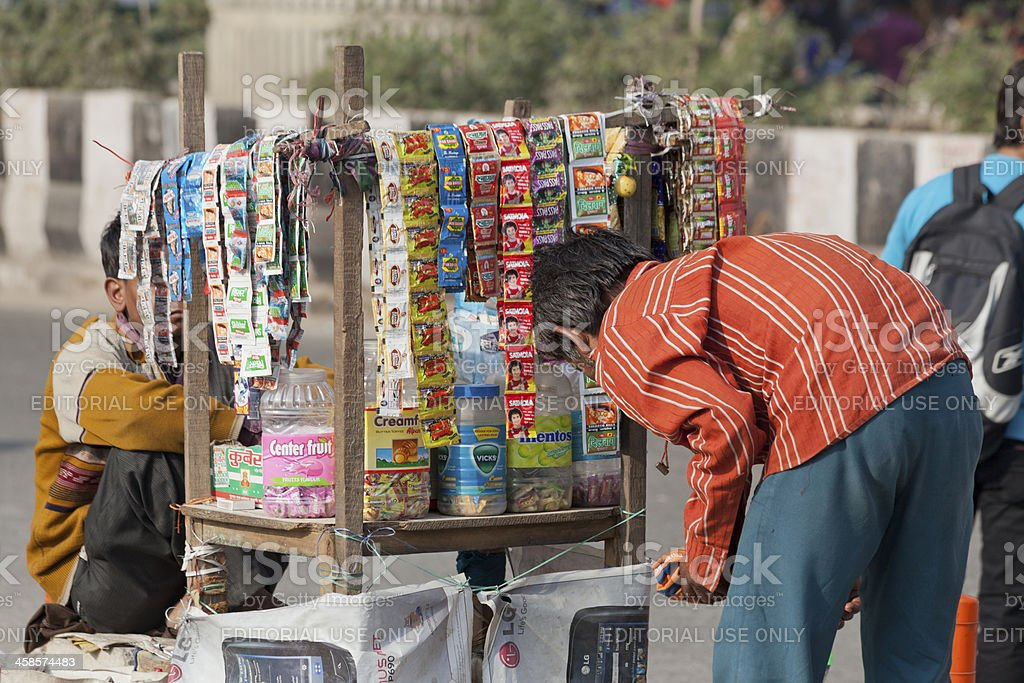 chewing tabacco gutka selling at noida india stock photo