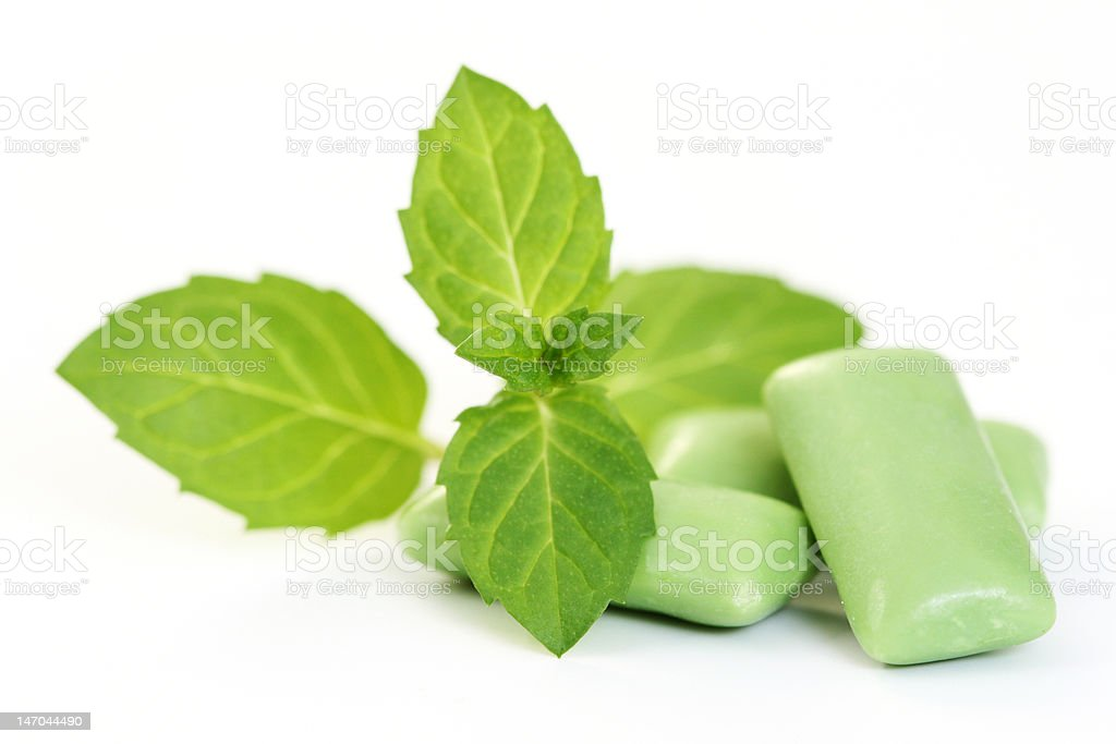 chewing-gum stock photo