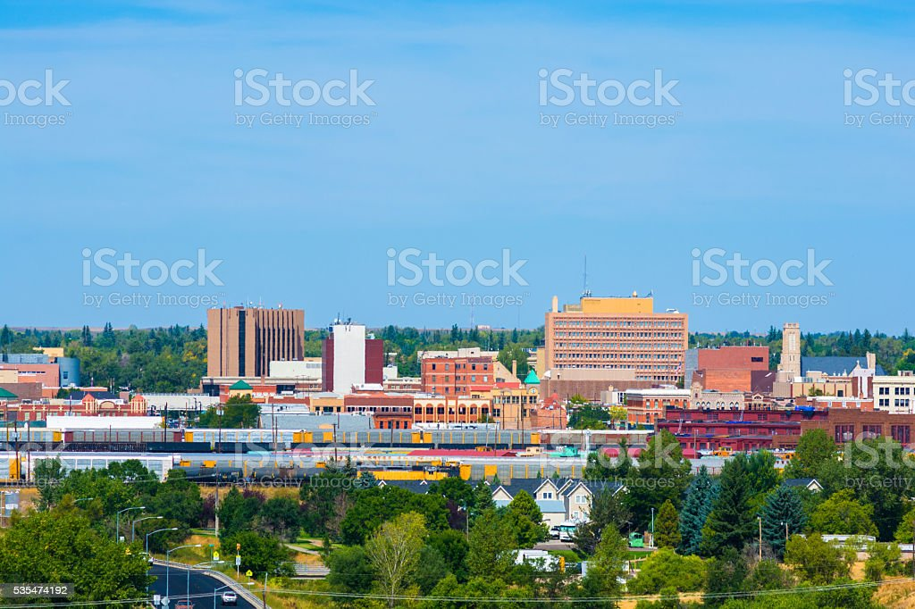Cheyenne Downtown Skyline stock photo