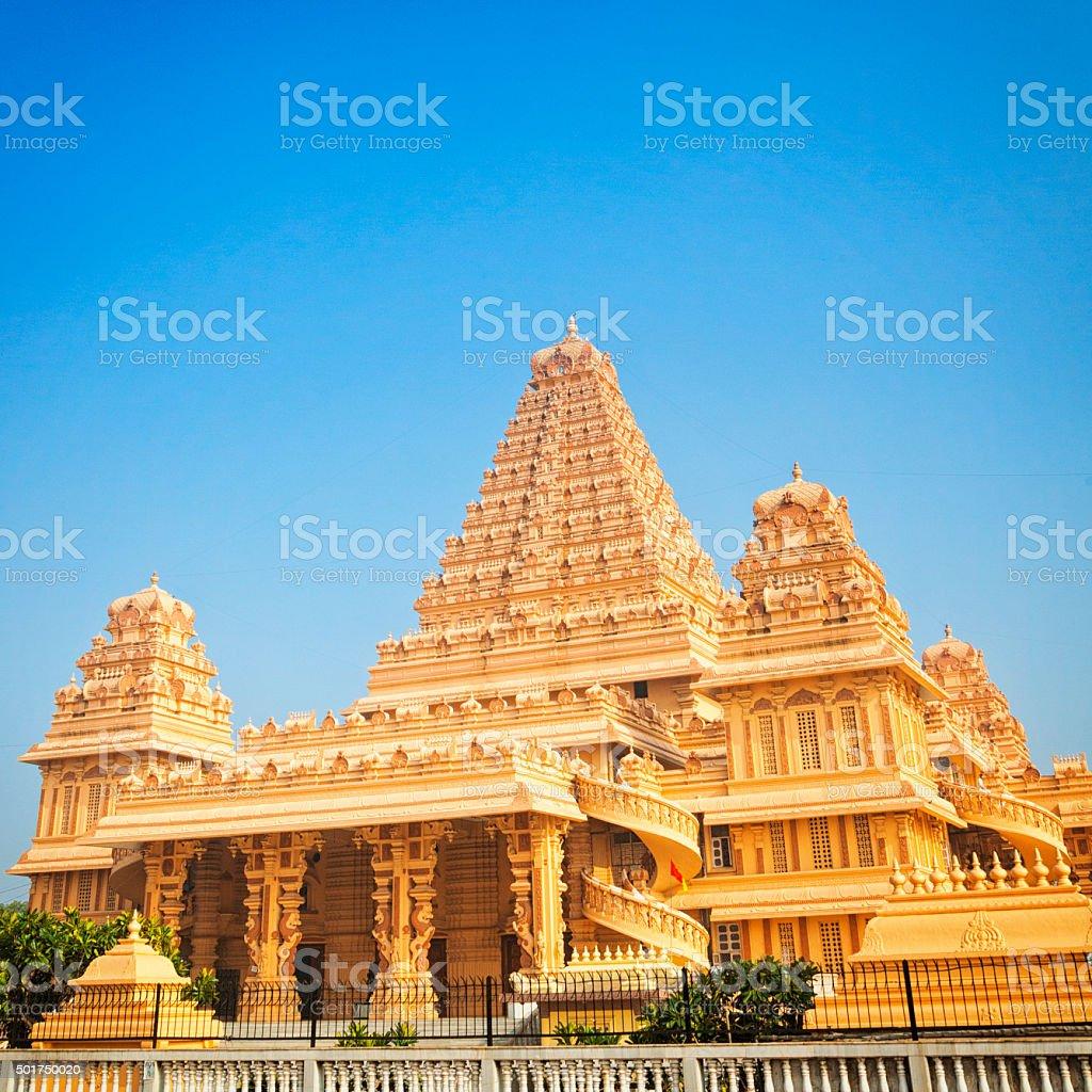 Chhatarpur Temple in New Delhi, India stock photo