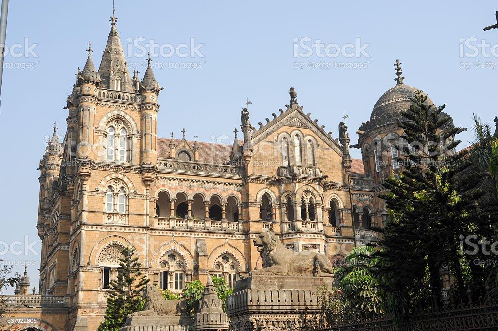Chhatrapati Shivaji Terminus formerly Victoria station at Mumbai stock photo