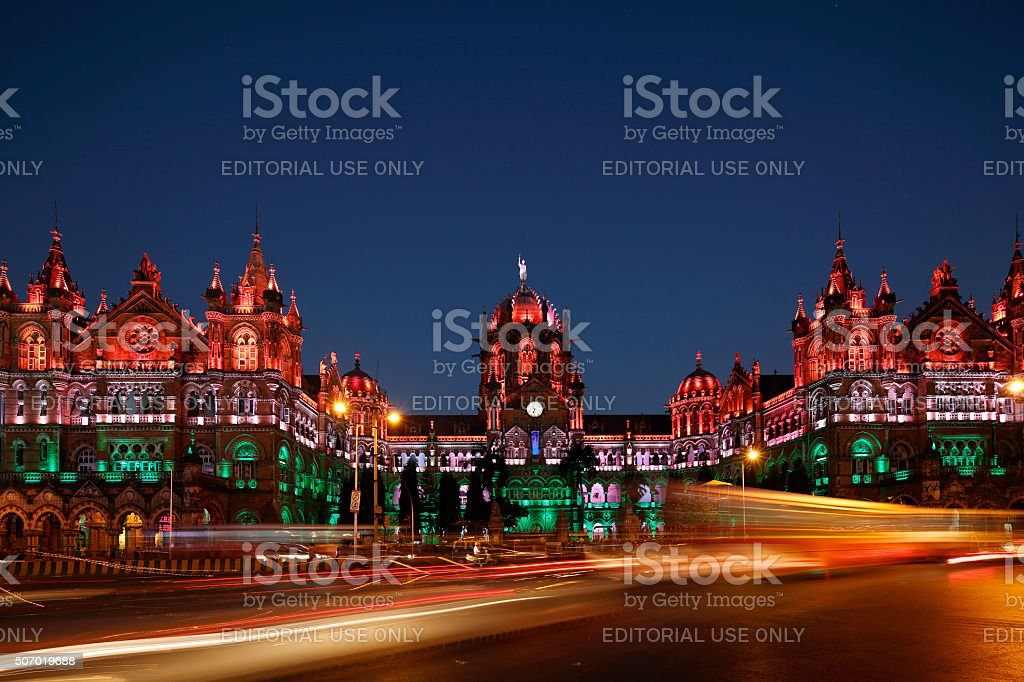 Chhatrapati Shivaji Terminus (CST) formerly Victoria Terminus in Mumbai stock photo